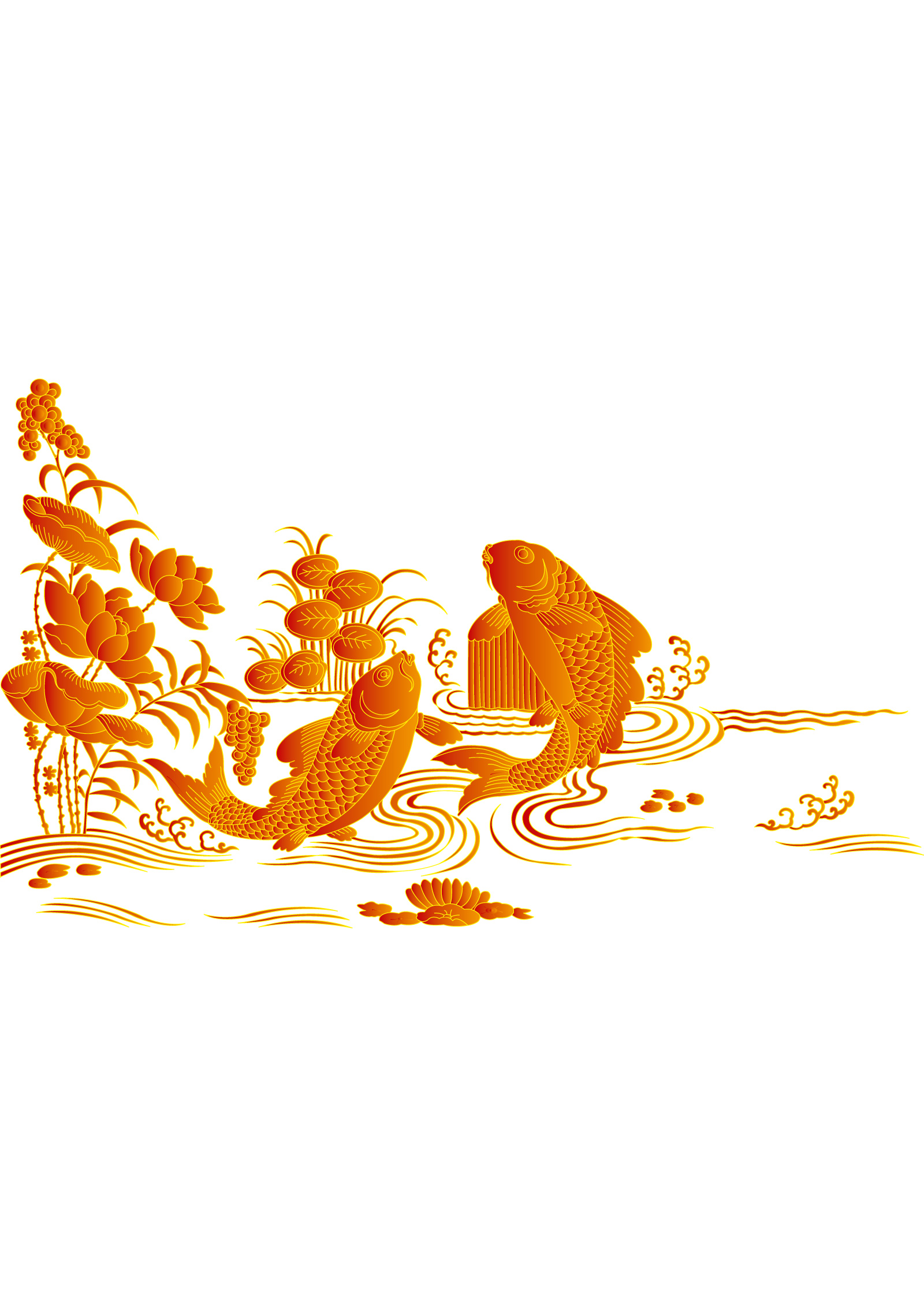 chinesefontdesign.com 2017 03 31 07 49 59 Chinese traditional carp to leap onto the goal auspicious vector  Illustrations Vectors AI ESP Free Download Chinese carp ai