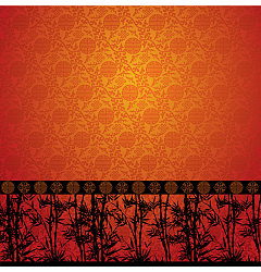 Permalink to Chinese traditional bamboo pattern background Illustrations Vectors AI ESP
