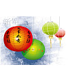 China celebrates lanterns Illustrations Vectors AI ESP