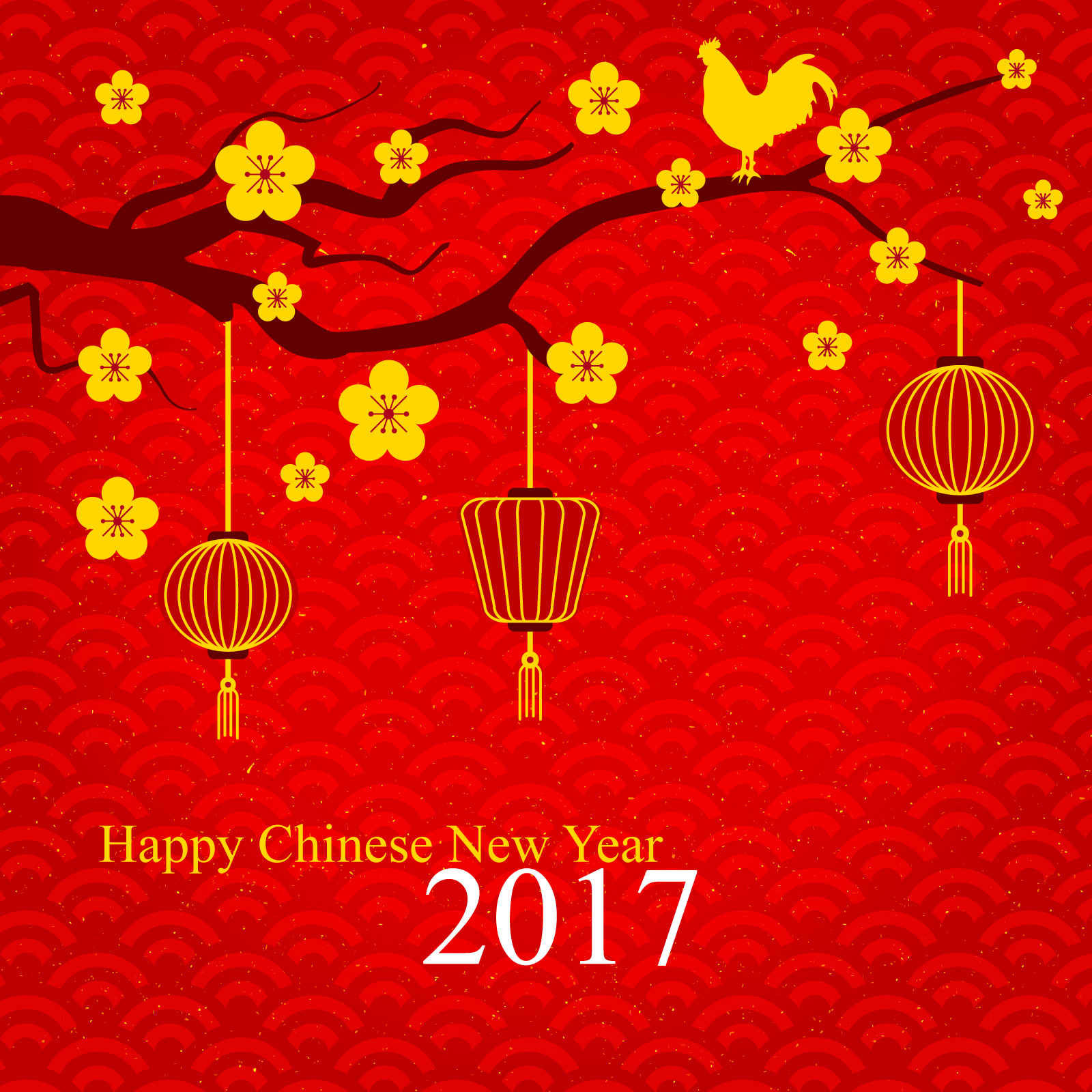 blessing in 2017 happy new year  chinese red design china illustrations vectors ai esp  u2013 free