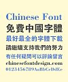Carbon Fiber Bold Figure Chinese Font-Traditional Chinese Fonts