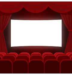 Permalink to Cinema screening hall vector pictures China Illustrations Vectors AI ESP