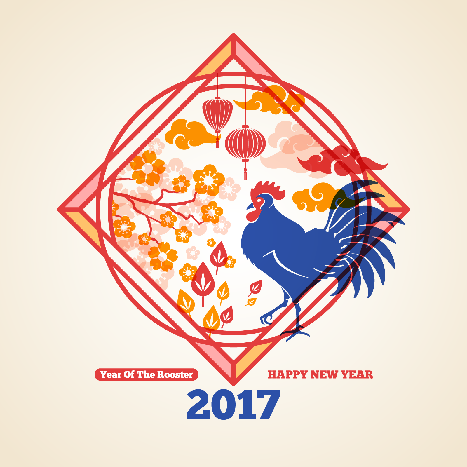 chinesefontdesign.com 2017 04 23 19 49 09 Chinese chicken year Blessing of pattern China Illustrations Vectors AI ESP Chicken Vectors chicken ai