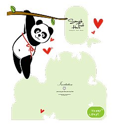 Permalink to Super cute Chinese panda card China Illustrations Vectors AI ESP
