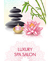 Pebbles, lotus, candles, bamboo Illustrations Vectors AI ESP