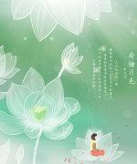 Lotus theme poster China PSD File Free Download