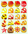 The Communist Party of China Communist Party emblem, the Communist Youth League emblem, the Chinese People's Liberation Army emblem PSD File Free Download