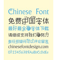 Permalink to Lovely bubble Art Chinese Font-Simplified Chinese Fonts