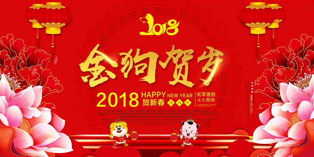 Red theme - happy Chinese New Year poster design. PSD File Free Download