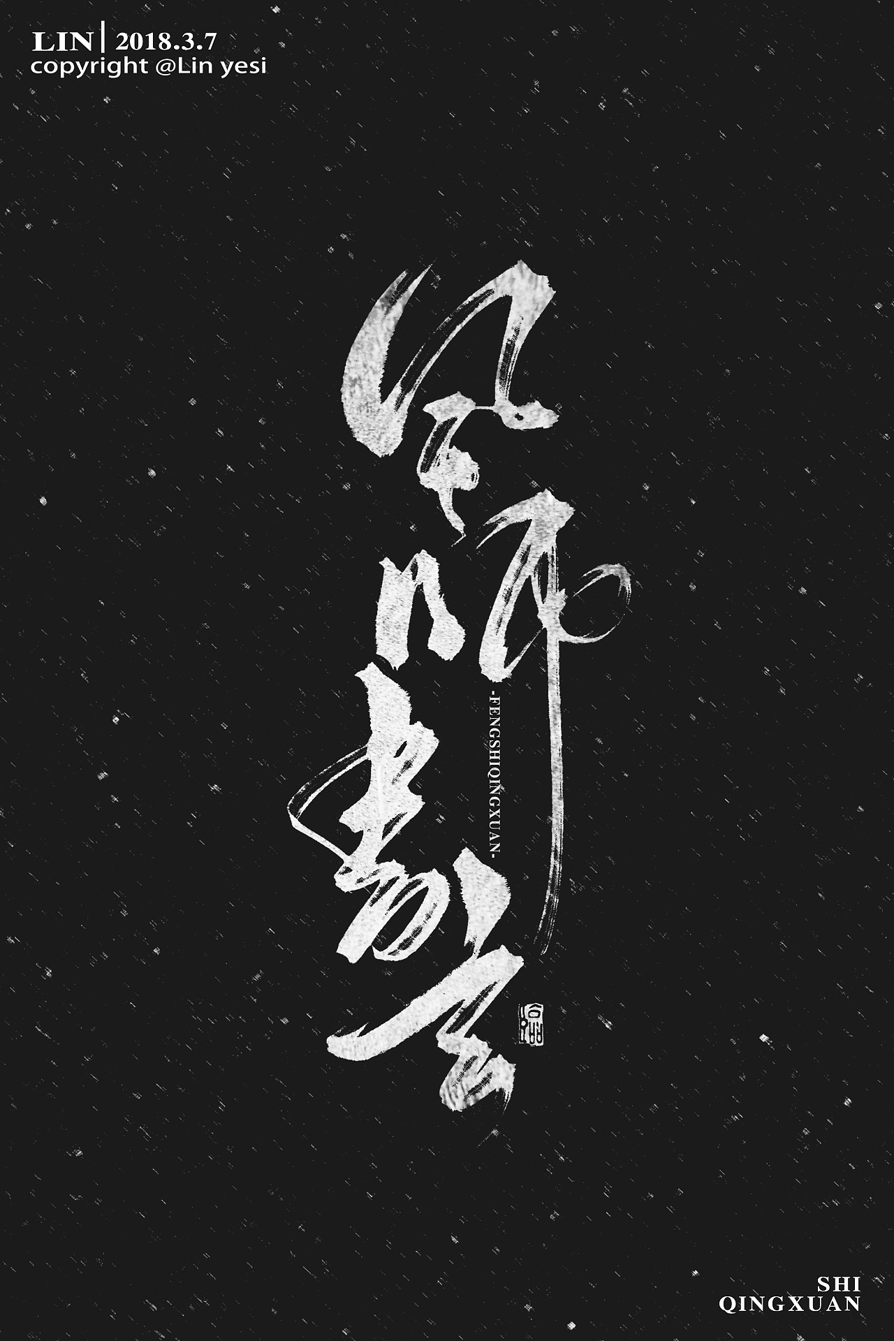 12P Chinese traditional calligraphy brush calligraphy font style appreciation #106