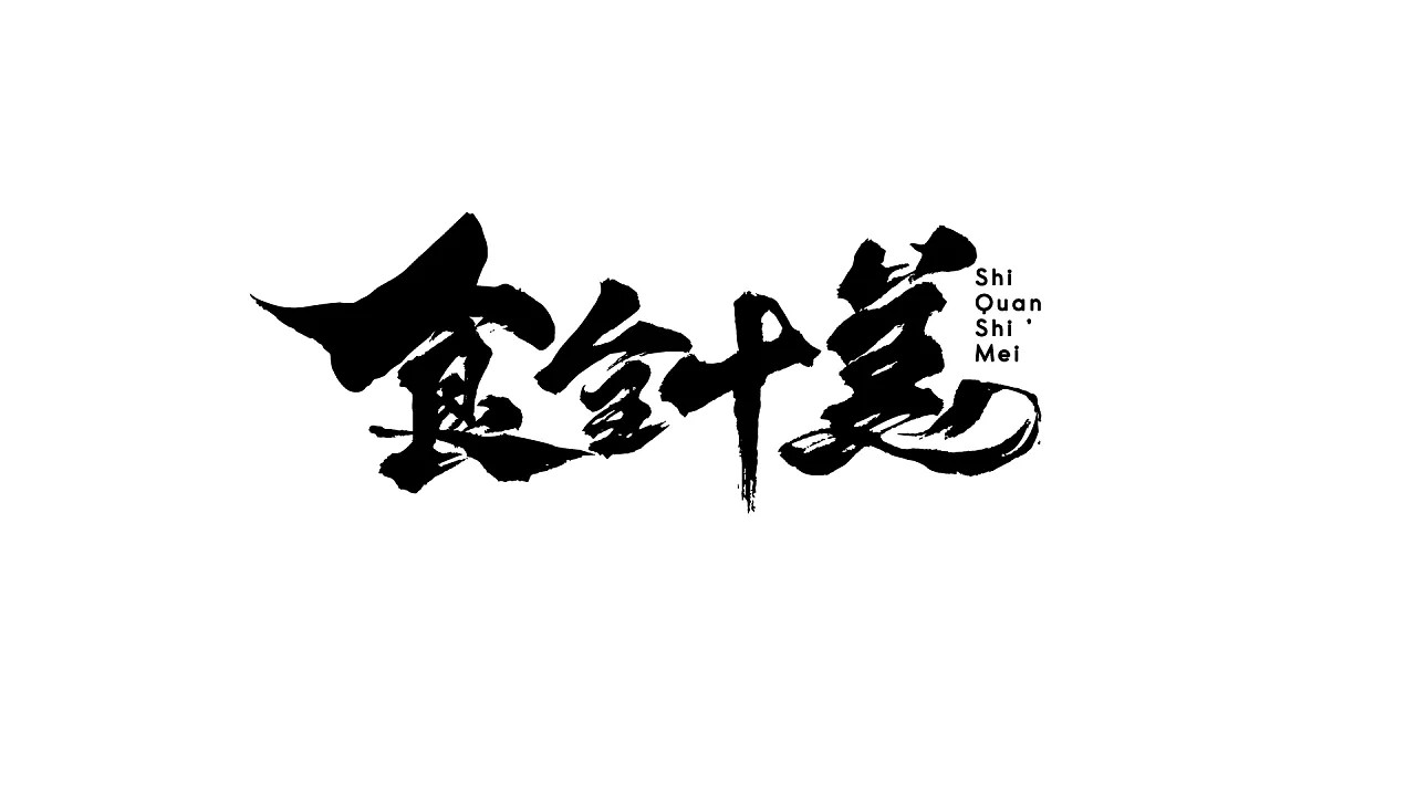 17P Chinese traditional calligraphy brush calligraphy font style appreciation #113