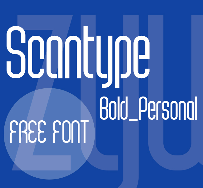 Scantype Black PERSONAL USE Font Download