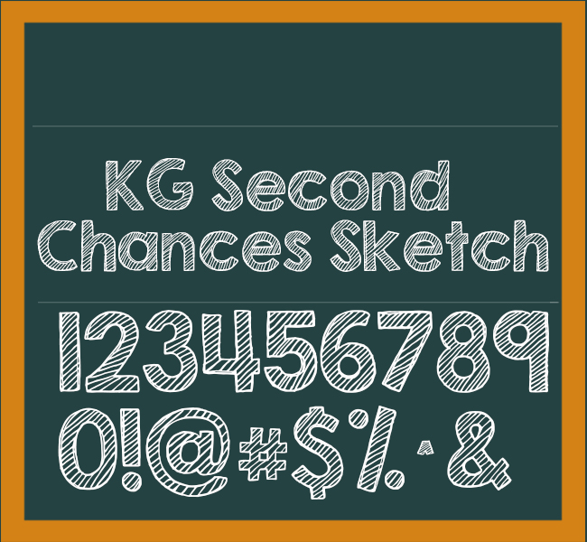 KG Second Chances Sketch Font Download