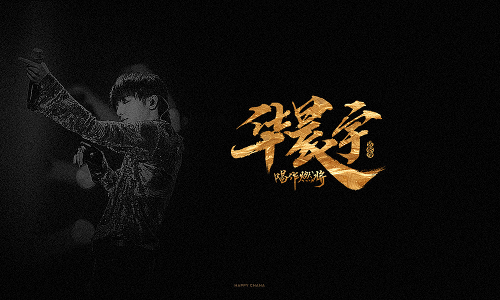 17P  Font design of Chinese singer's name