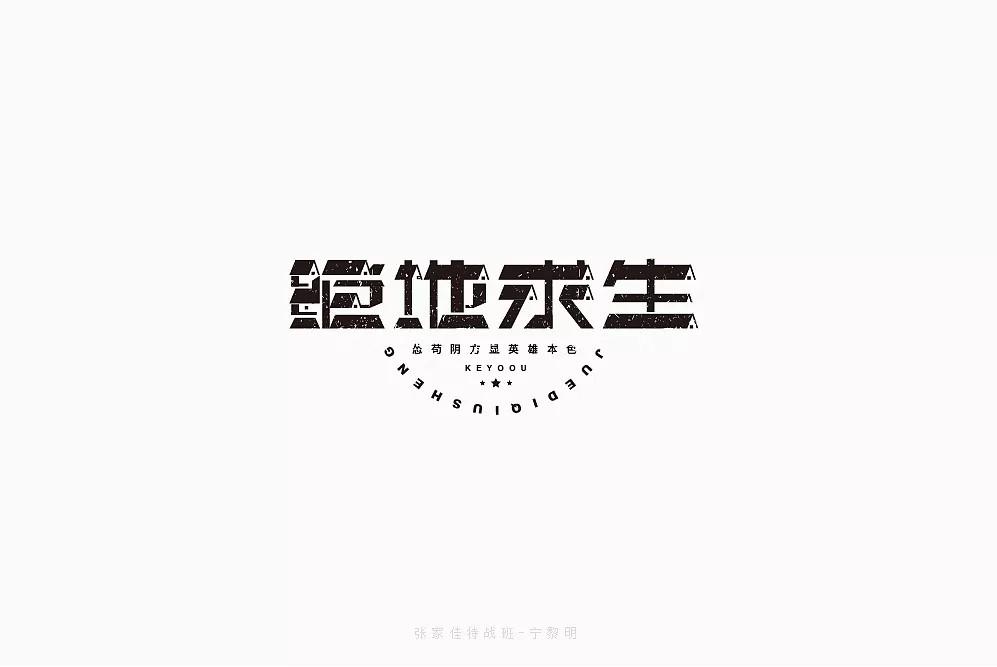50P Creative Chinese font logo design scheme #.161