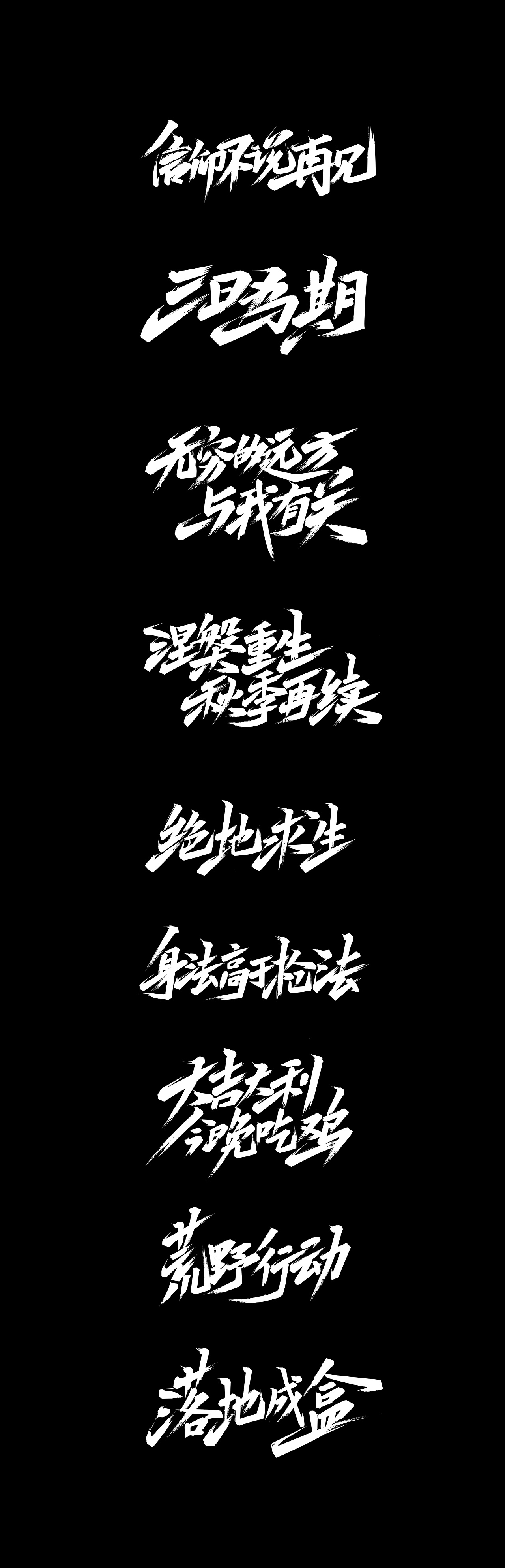 10P Chinese traditional calligraphy brush calligraphy font style appreciation #202