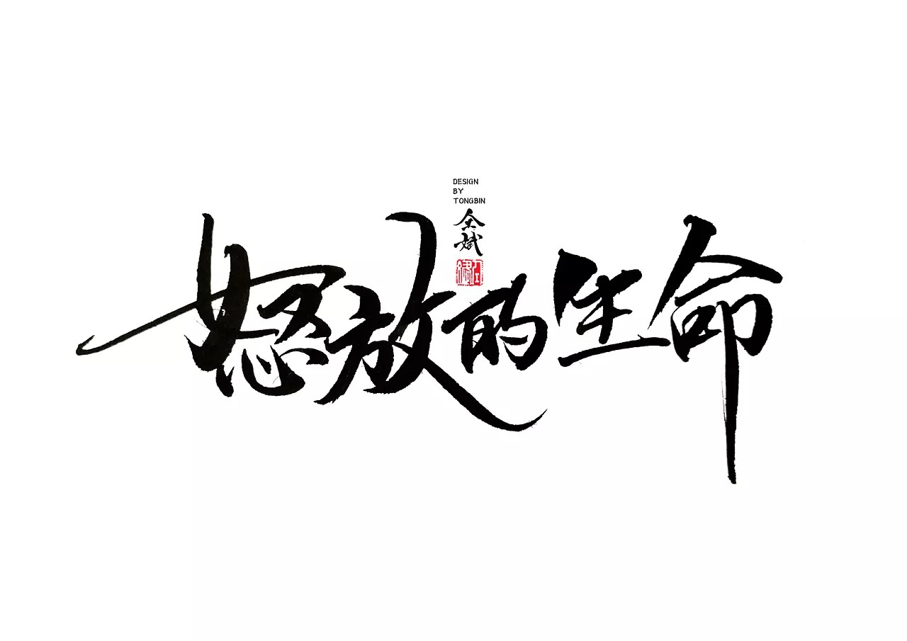 25P Chinese traditional calligraphy brush calligraphy font style appreciation #204