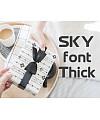 SKYfontThick Font Download