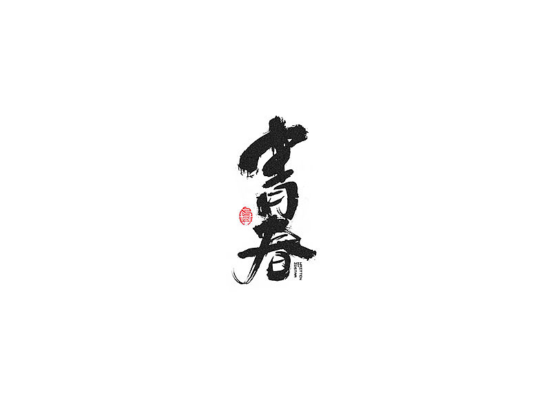 40P Chinese traditional calligraphy brush calligraphy font style appreciation #.217