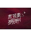 9P Creative Chinese font logo design scheme #.221
