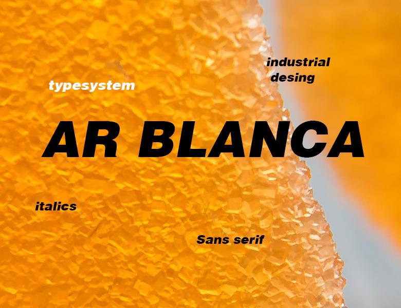 AR BLANCA Font Download