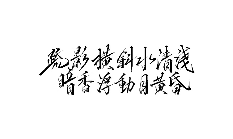 15P Chinese traditional calligraphy brush calligraphy font style appreciation #.345