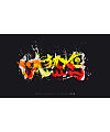 12P Splash ink style font calligraphy writing