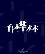 4P Creative Chinese font logo design scheme #.712