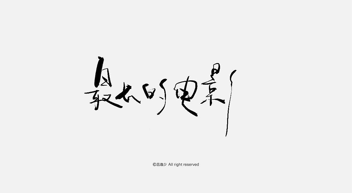 13P Chinese traditional calligraphy brush calligraphy font style appreciation #.791