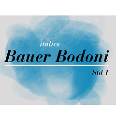 Permalink to Bauer Bodoni Std Font Download