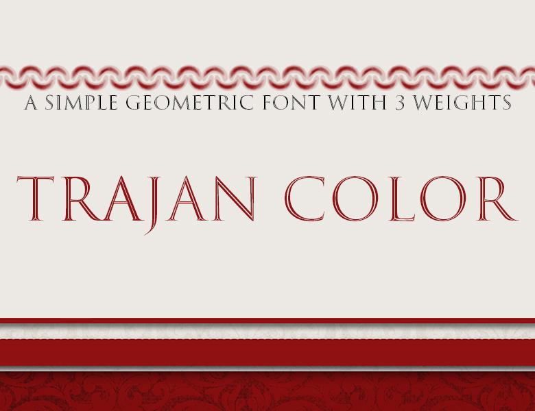 Trajan Color Concept Font Download