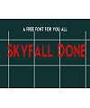 SkyFall Done Font Download