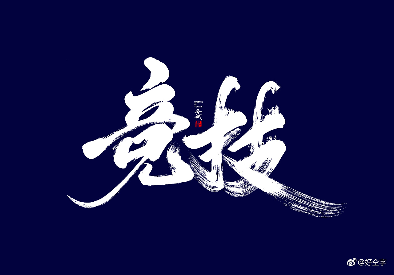 27P Chinese traditional calligraphy brush calligraphy font style appreciation #.964