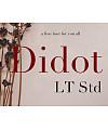 Didot LT Std Roman Font Download