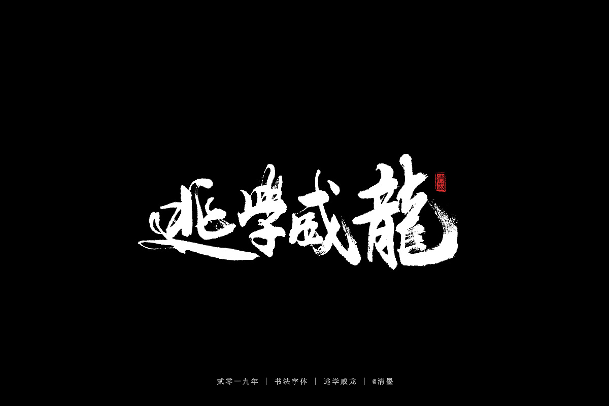 12P Chinese traditional calligraphy brush calligraphy font style appreciation #.1249