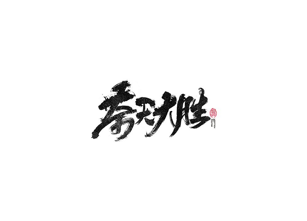25P Chinese traditional calligraphy brush calligraphy font style appreciation #.1428