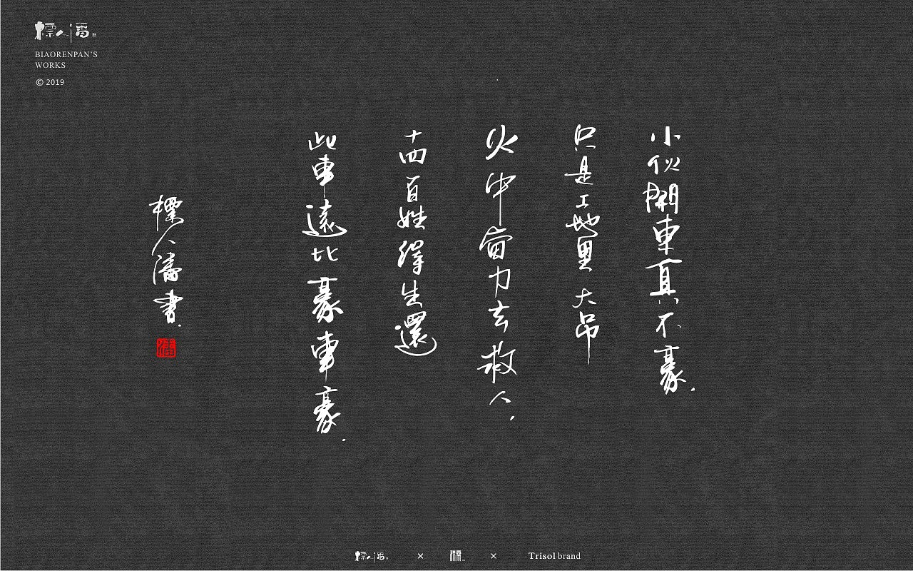 18P Chinese traditional calligraphy brush calligraphy font style appreciation #.1480