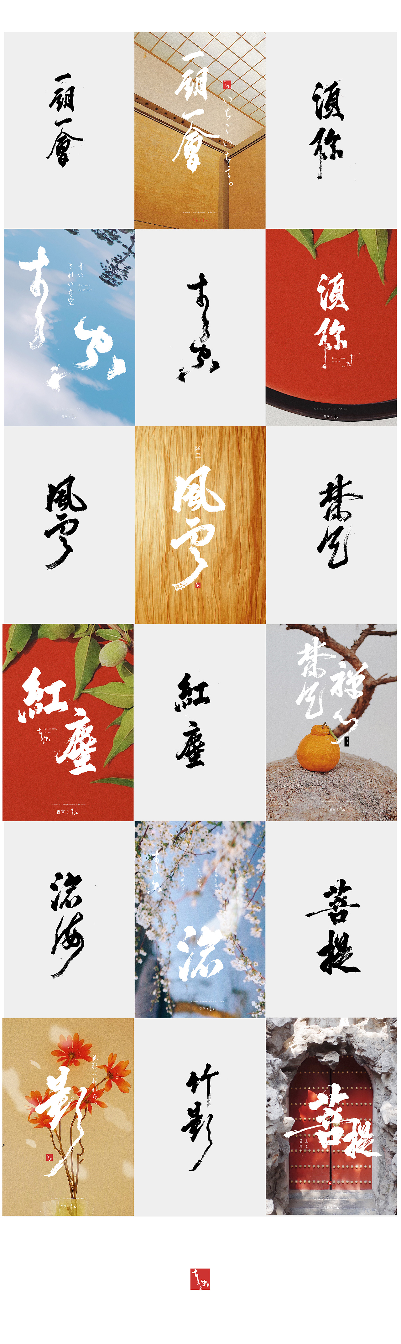 6P Chinese traditional calligraphy brush calligraphy font style appreciation #.1517