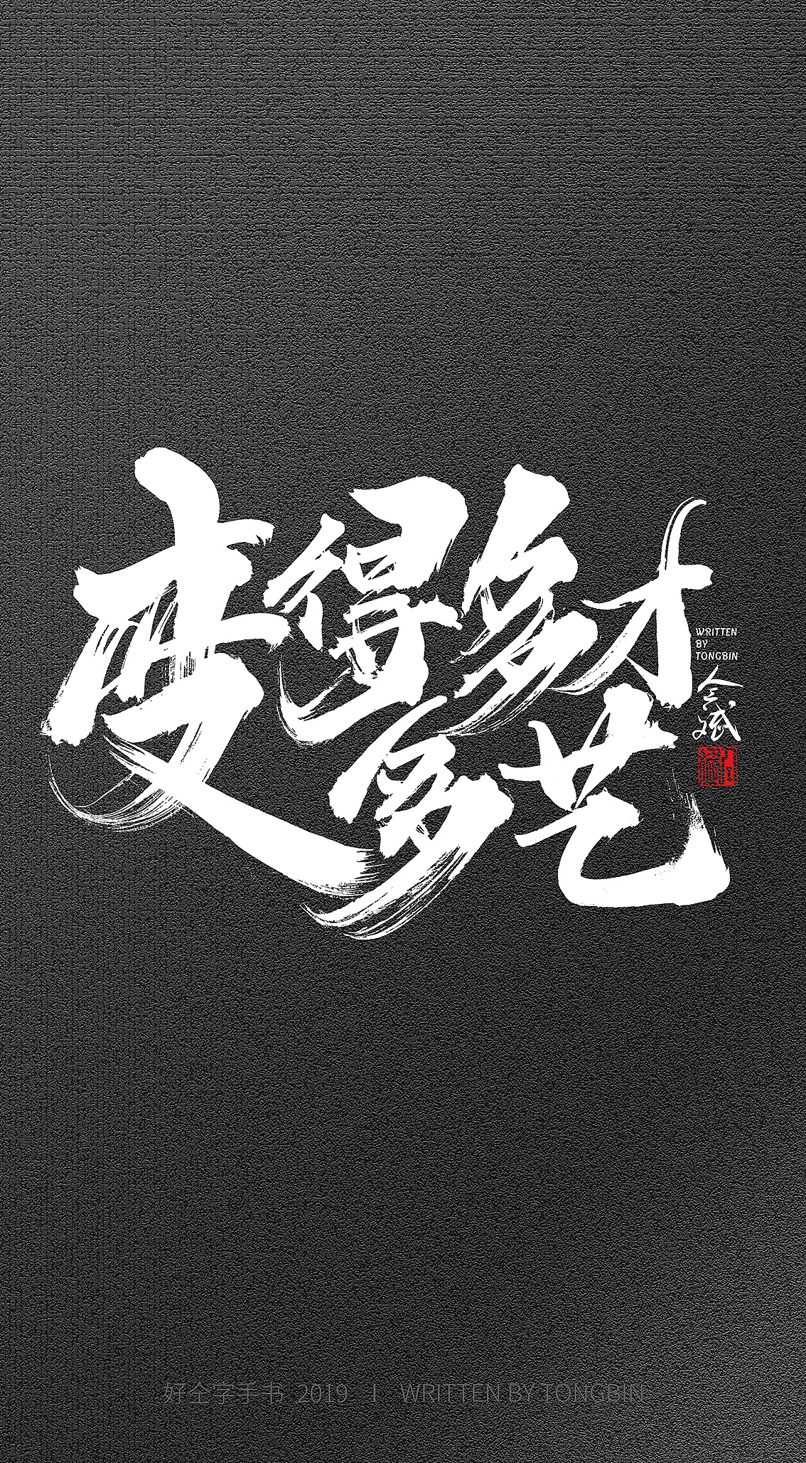 9P Chinese traditional calligraphy brush calligraphy font style appreciation #.1668