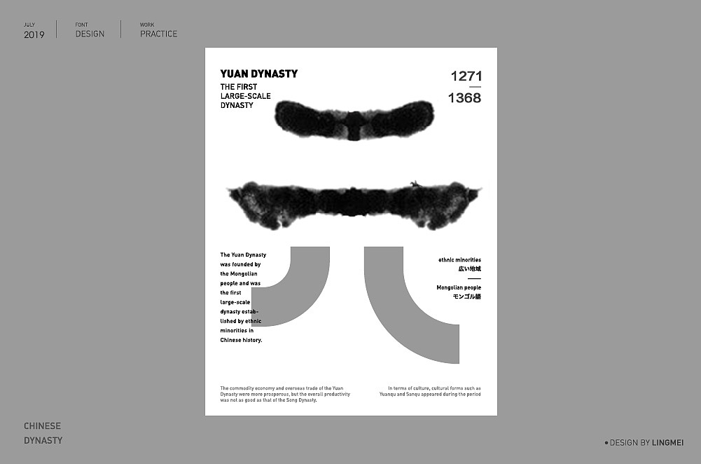 18P Font Design: Chinese Dynasty