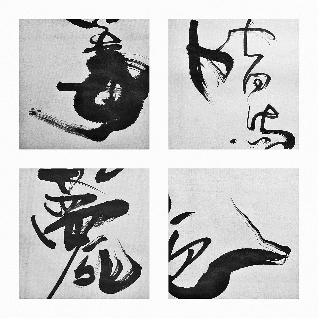10P Chinese traditional calligraphy brush calligraphy font style appreciation #.1877