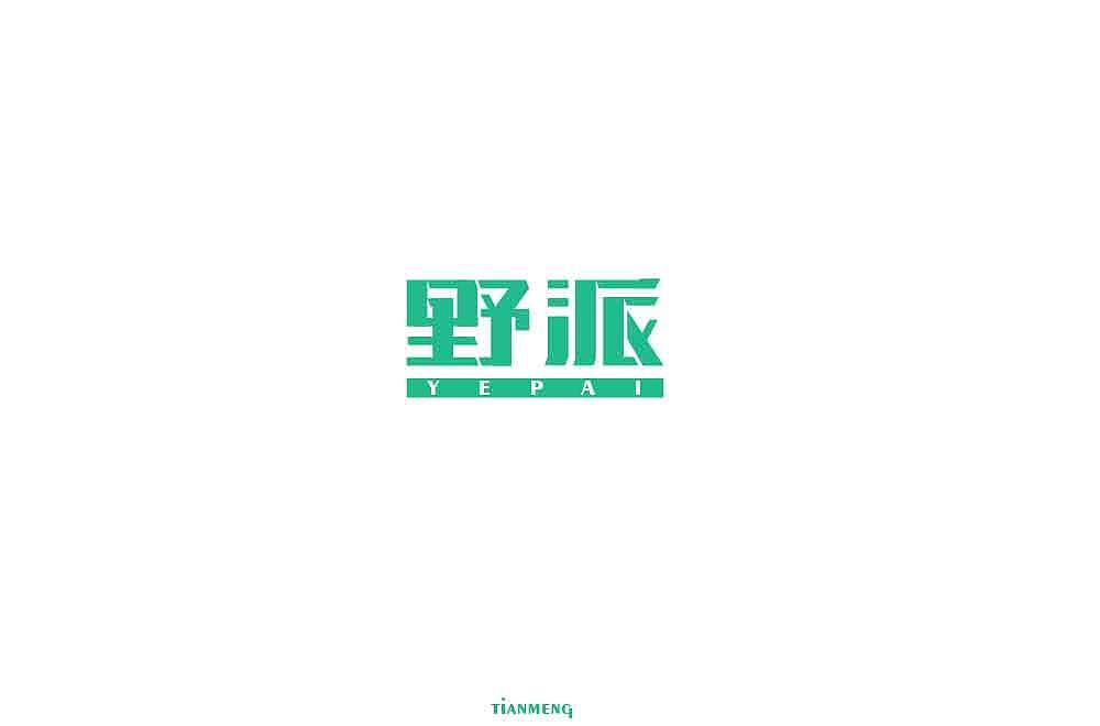 30P Creative Chinese font logo design scheme #.1792