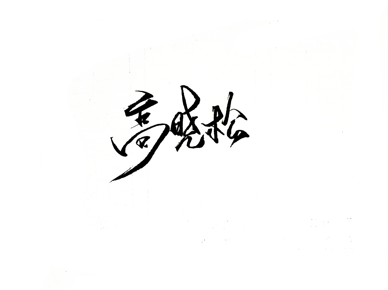 14P Chinese traditional calligraphy brush calligraphy font style appreciation #.2197
