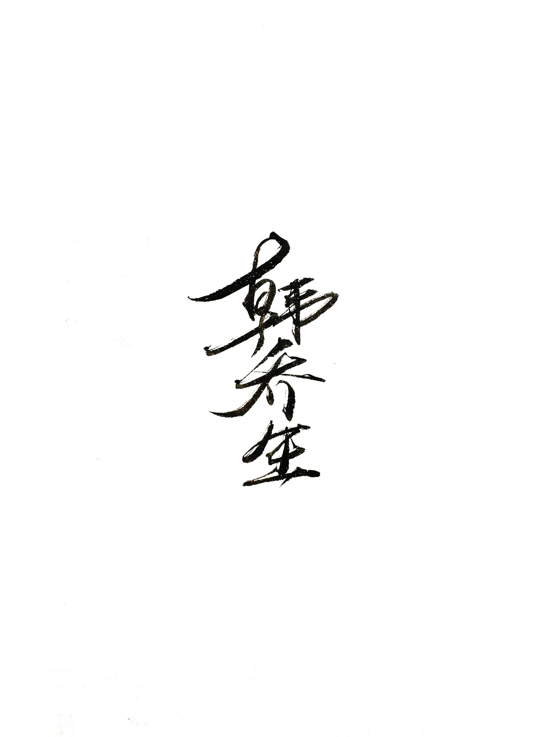 13P Chinese traditional calligraphy brush calligraphy font style appreciation #.2339