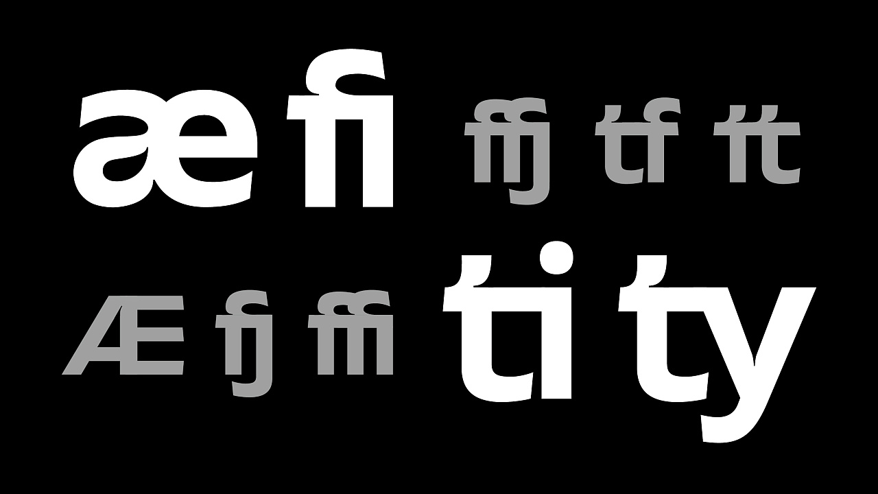 Font design-I know very little about western fonts, and I haven't named them yet
