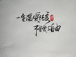 Chinese Creative Font Design-What kind of healing chicken soup for the soul