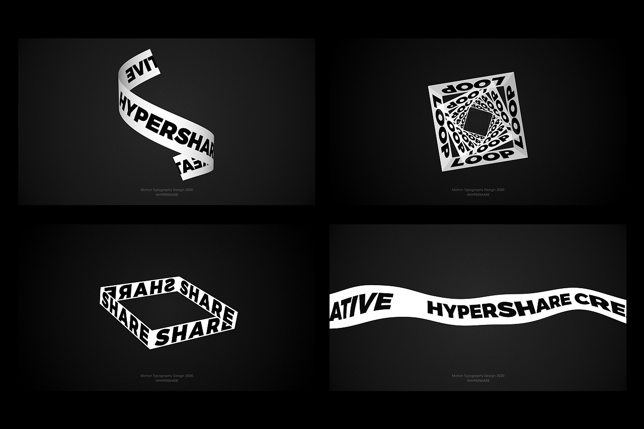 Creative font design-Motion Typography | BLACK&WHITE
