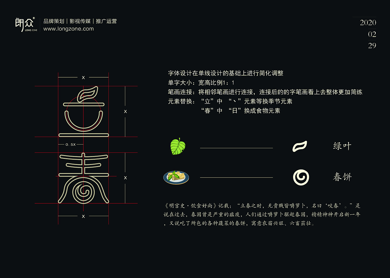 Chinese Creative Font Design-How will food collide with traditional solar terms by integrating food into design?