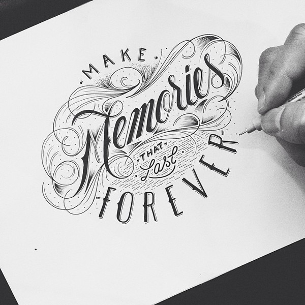 Beautiful Hand-painted English Font Design Appreciation