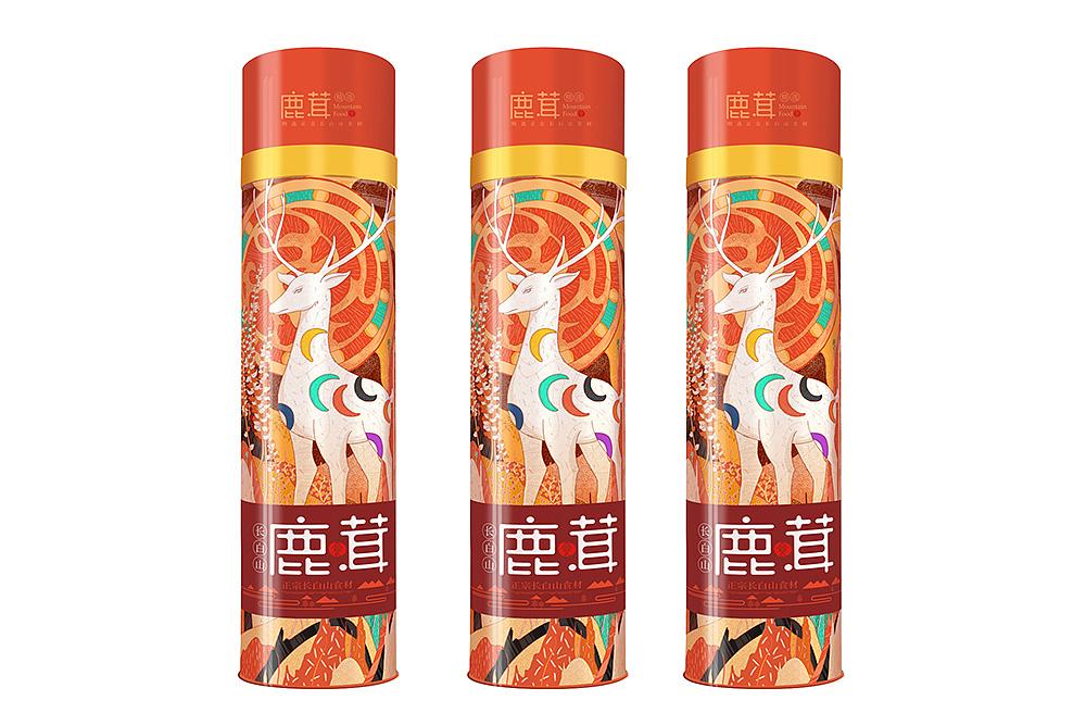Chinese logo Design for Pilose Antler Packaging